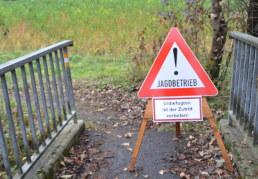 Schild: Jagd