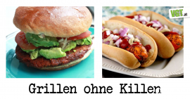 Burger und Hot Dog vegan