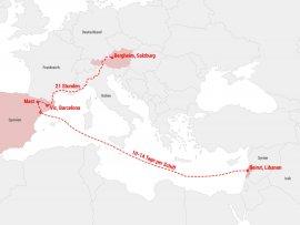 Karte Transportweg